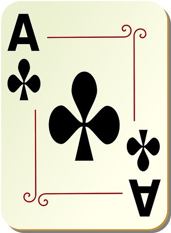 Ace, Clubs, Poker, Playing Cards