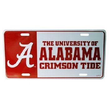 University Of Alabama Car Tag Color Block Case Pack 48