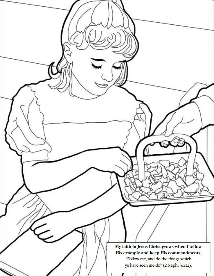 Coloring pages for kids | Lds coloring pages