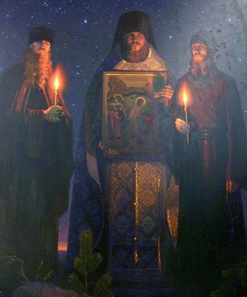 Holy New Martyrs of Optina pray to God for us! Click on the pic to read the story of the martyrdom of Monks Trofim, Ferapont, and Father Vasily.