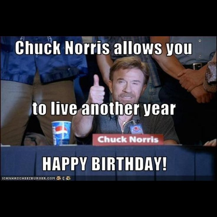 Chuck Norris Happy Birthday 411 more chuck norris