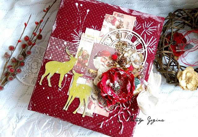 Prima marketing Victorian christmas album http://mkkandyy.blogspot.com/2015/12/88-victorian-christmas.html