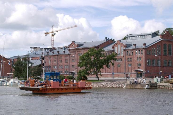 Turku Ferry across river Aura
