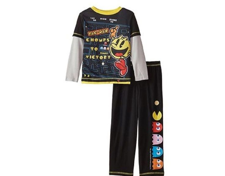 $24.99 NWT Komar Kids Boys M 8 #Pacman 2-Piece PJ Pajama Set Long Sleeve Pants #Komar #PajamaSets