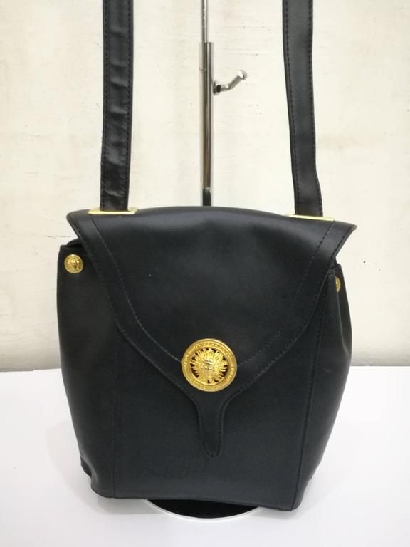 1980s Gianni Versace Black Leather Bag 2  purses1980s  dc7c6d72c6cf3