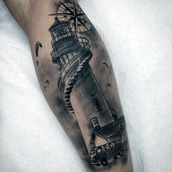 realistic lighthouse tattoo on muscles photo 1 tattoo ideas pinterest lighthouse and muscles. Black Bedroom Furniture Sets. Home Design Ideas