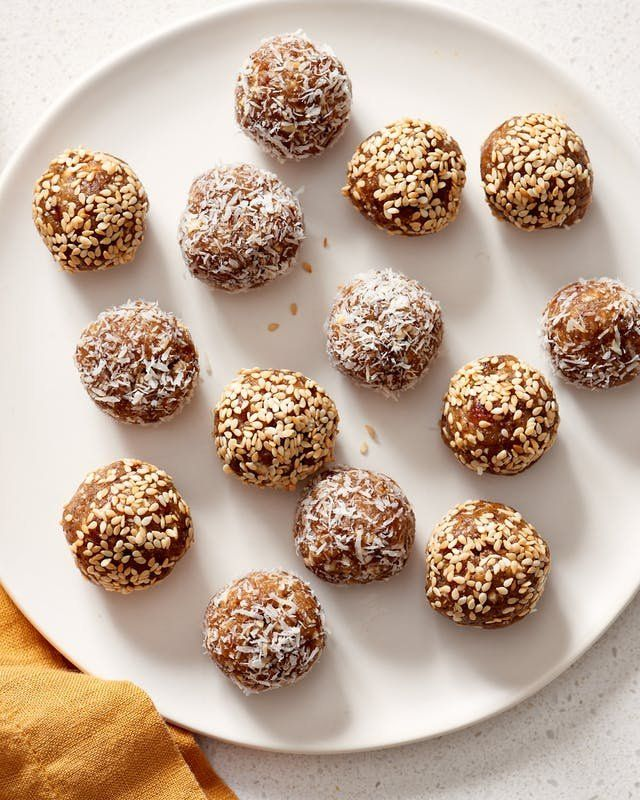 Recipe No Bake Tahini Date Energy Balls Recipe Energy Ball Recipe Healthy Protein Snacks Recipes
