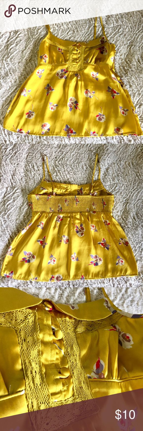 ✨New Listing✨ AE American Eagle floral satin cami Floral Satin Cami by American Eagle Outfitters. Size Medium American Eagle Outfitters Tops