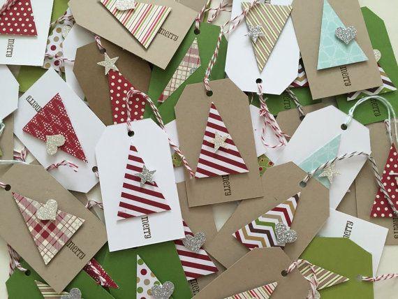 Christmas Gift Tags Christmas Tree dimensional sparkle
