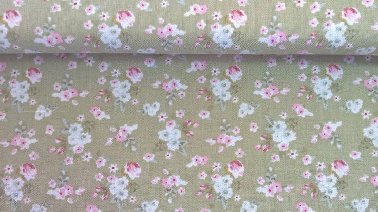 Stoff Blumen - Tilda Quilt Collection Lotta Green Flowers - ein Designerstück von Stoffe-guenstig-kaufen bei DaWanda