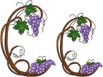 Grape Vine Font - Letter C