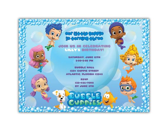 31 best bubble guppies images on Pinterest Parties Birthday
