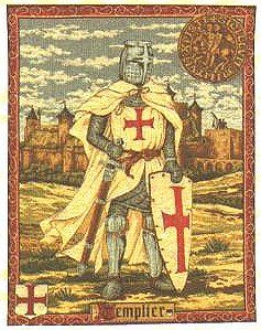 Medieval Tapestry Templier - Knight Picture  http://www.medievalwalltapestry.com/templier-knight-tapestry.html#