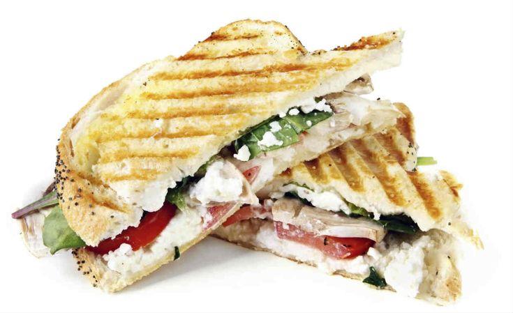 Receita de sanduíche de peito de peru com ricota