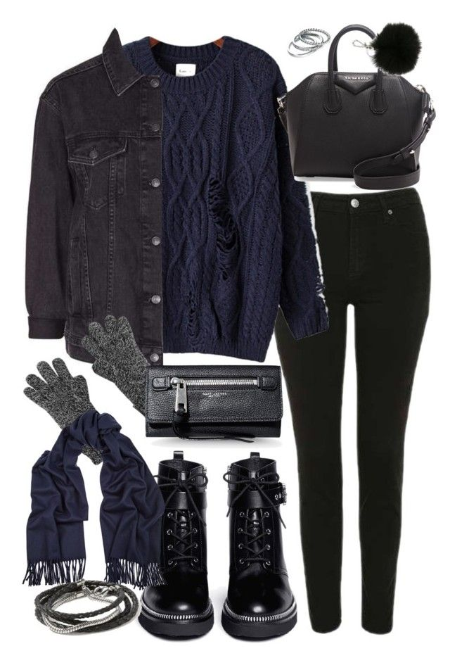 """""""outfit for winter with a navy jumper"""" by ferned on Polyvore featuring Topshop, Chicnova Fashion, Givenchy, Fiorelli, MICHAEL Michael Kors, Acne Studios, Banana Republic and Marc Jacobs"""