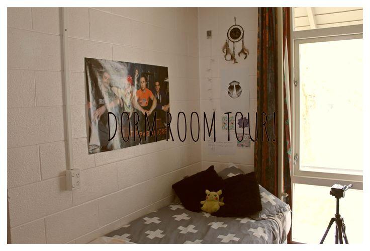 Dorm Room Tour 2016! #dorm#dormroom#halls#roomtour#decor#decorinspiration#university#college#dormlife#video#youtuber