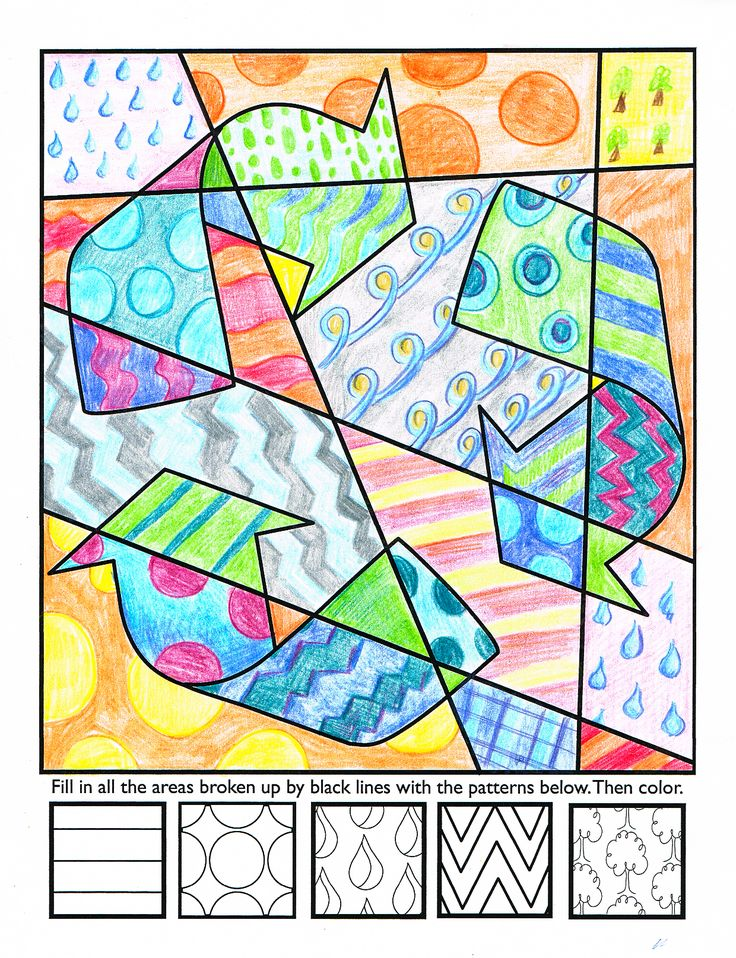 kids get to design their own coloring sheet - Color Patterns For Kids