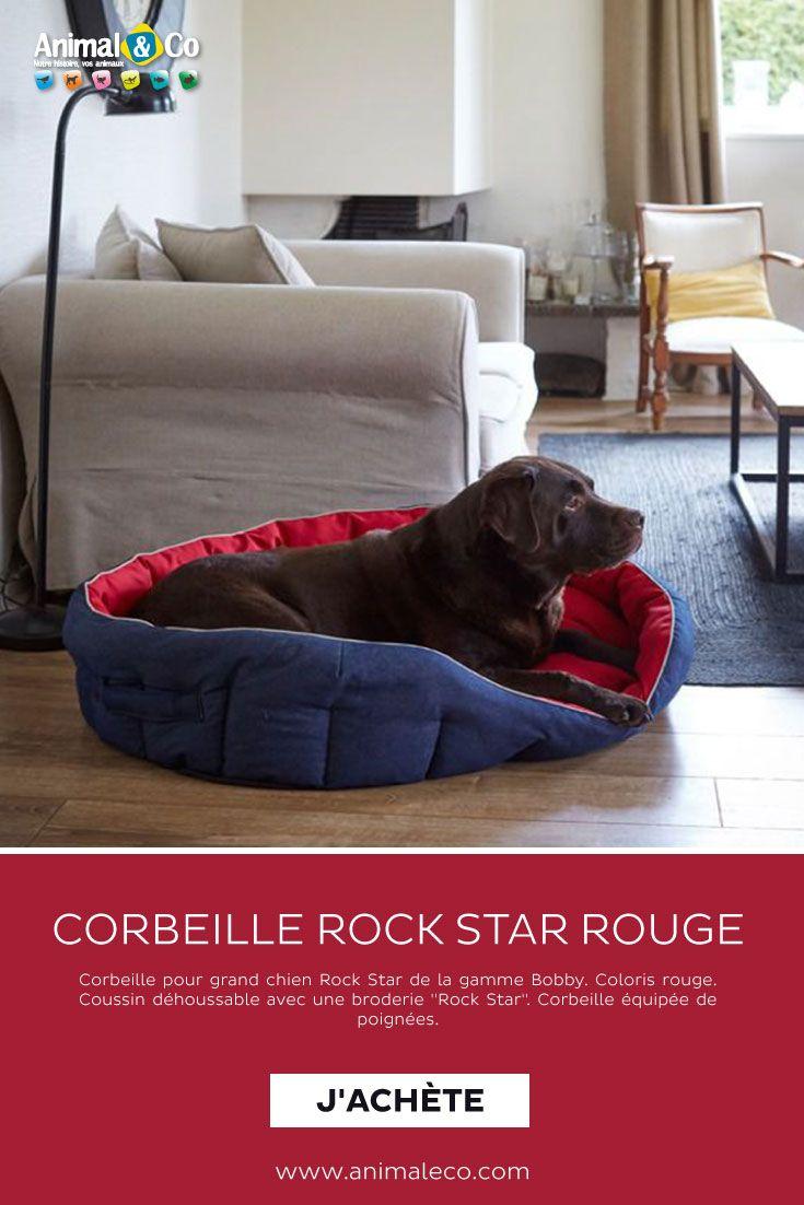 Corbeille Rock Star Rouge L Grands Chiens Corbeille Chien