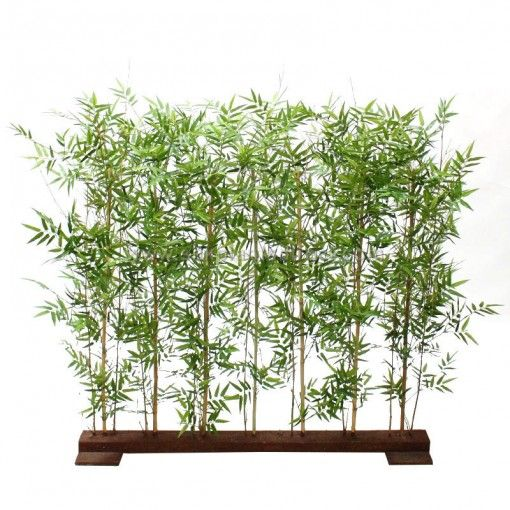 silk plants direct oriental bamboo hedge green pack of 2