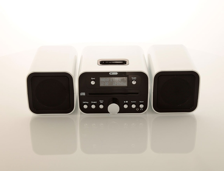 Acoustic Solutions Band Micro Hi Fi has a dock for your iPod or iPhone as well as an in built clock and CD player.