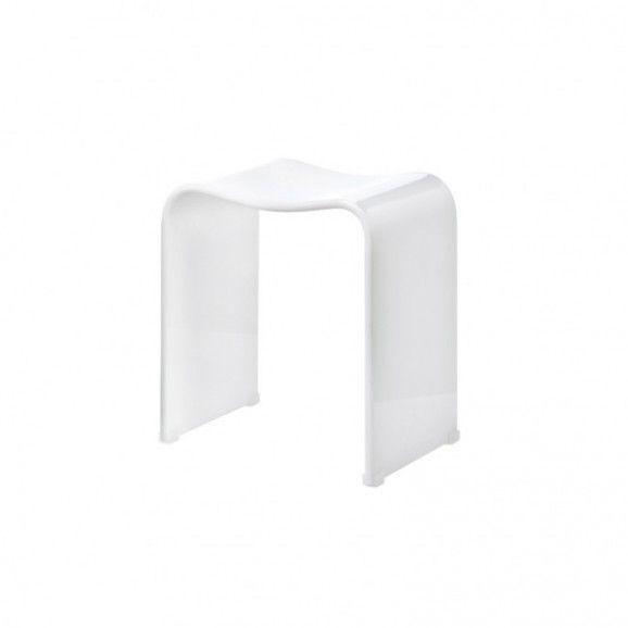 Tabouret de douche en acrylique blanc Decor Walther - DW 80
