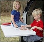 "Boone Outdoor Hardware Tailgate Table with Free Cover for 2"" Trailer Hitches Boone Outdoor Hitch Accessories BH70777"
