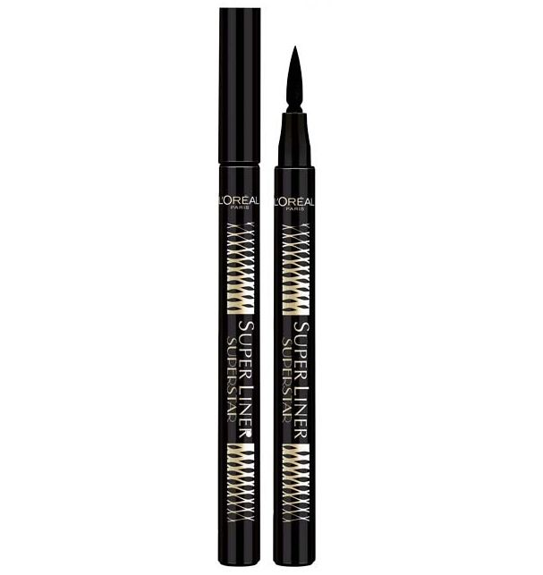 """Μεταμόρφωσε το look σου με ένα μόνο πέρασμα με το μοναδικό L'Oreal Super Liner Superstar Black! Η ειδικά σχεδιασμένη felt – tip μύτη του πραγματοποιεί κάθε σου ευχή, καθώς ελέγχει την ποσότητα χρώματος που απελευθερώνει, ώστε να έχεις απόλυτα ακριβές αποτέλεσμα! Η """"flexor"""" καινοτομία του προσα"""