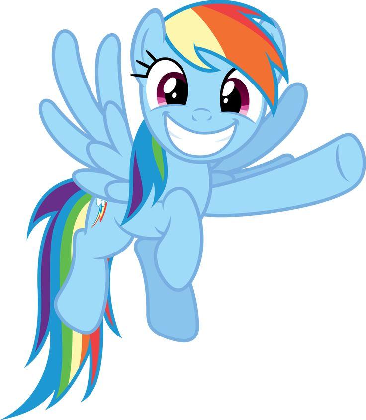 Rainbow Dash grinnig and pointing by Stabzor.deviantart.com on @deviantART