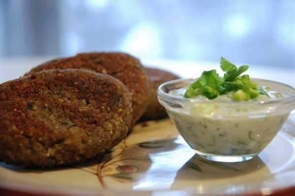 Meatless buckwheat patties with mushrooms