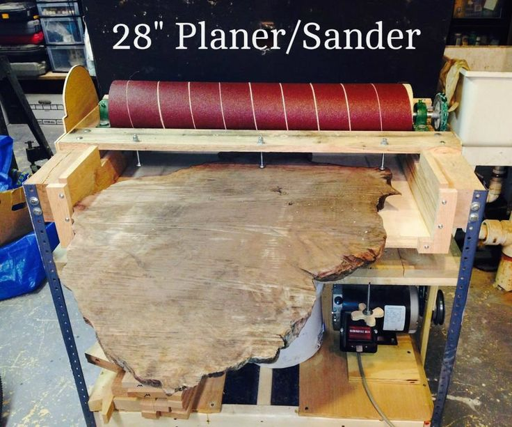 """In this instructable we will cover the steps and materials necessary to build the 28"""" Sander-Planer. Background: While driving across the USA on a vacation we happened across a small warehouse in California that sells rough cut redwood burl slabs. I really liked the piece in the second photo but it had a problem - it had been rough cut using a chain saw and the two faces were not parallel. At 26"""" wide and close to 36"""" long it was too big for my 12 1/2"""" planer, and a hand p..."""