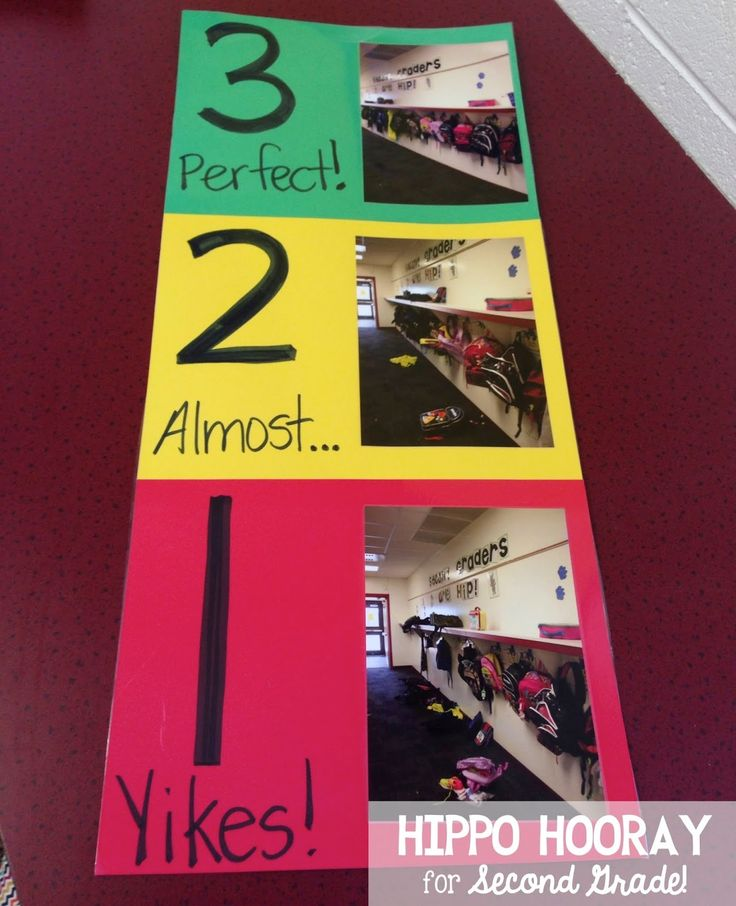 Hippo Hooray for Second Grade!: Bright Idea: Using Visuals to Establish Routines and Expectations
