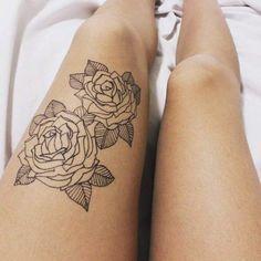 discret rose tattoo - Pesquisa Google