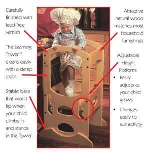 Our product spotlight this week is a tried and tested favorite by a friend of ours for kids in the kitchen! Thanks Tricia! The Learning Tower provides safety and versatility not found with traditional step stools. This is the only step stool on the market designed to meet the specific needs of young toddlers 18mos …