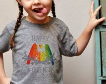 """Cute """"Happy in Our Nest"""" T-Shirt for Kids with Gay Parents"""