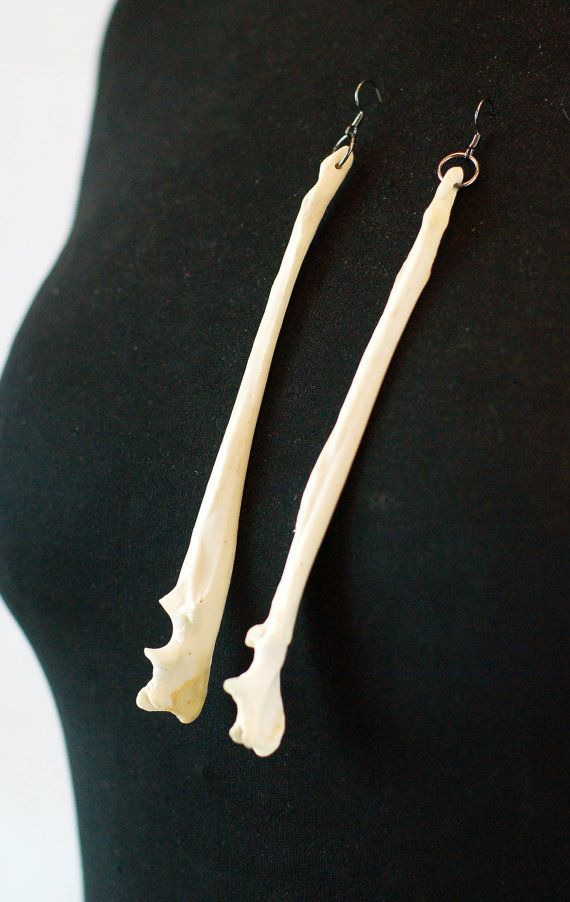 NEW Bone jewellery Fox Ulna Bone Earrings by VirginiatheWolf