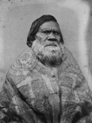 Australia NSW Carl Walter (1831-1907), Mr King, chief of the Goulburne [Goulburn] Tribe and Mary, King Billy's woman, Carngham [Lake Burrumbeet], 1866 Two portraits from the composite panel, Portraits of Aboriginal natives settled at Coranderrk.