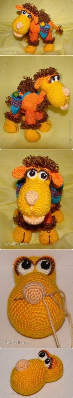 Авторская игрушка Елены Беловой - Верблюжонок Жоржик крючком. Мастер-класс