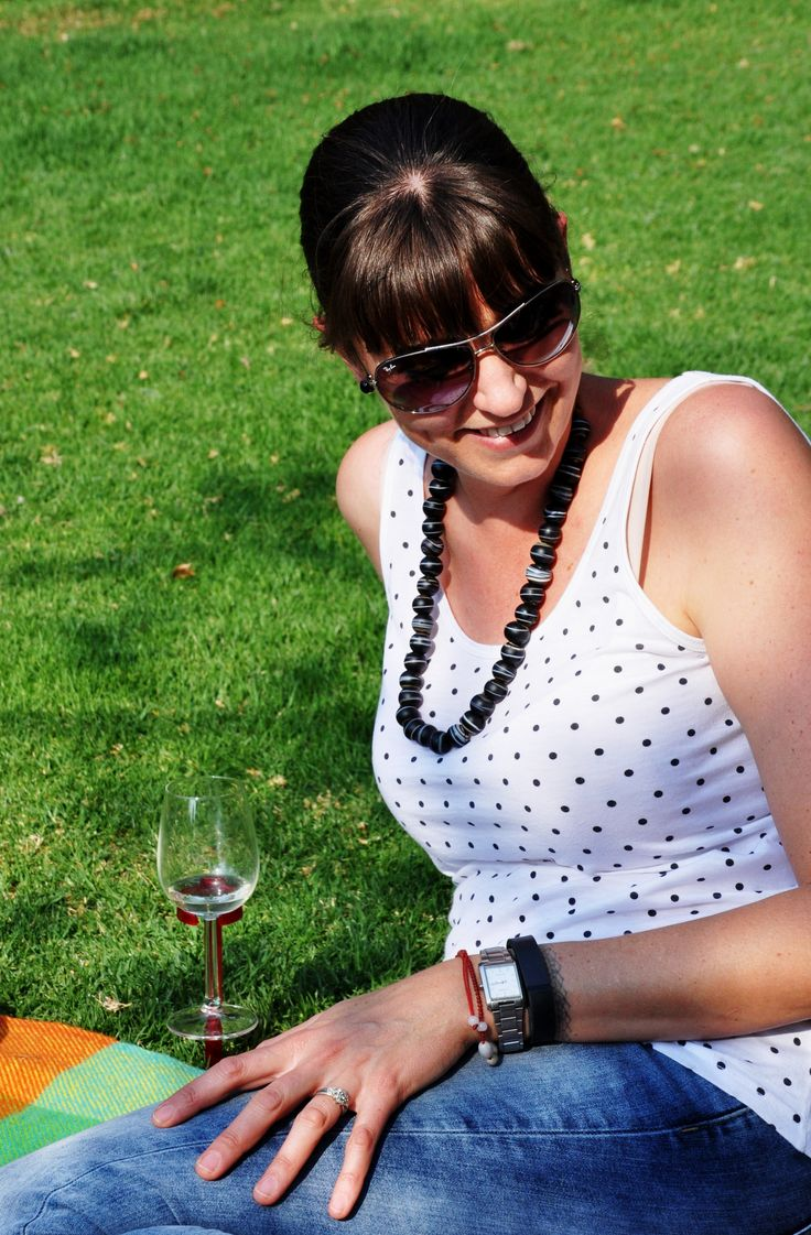 Picnic styling with Hands Free  Suited to fit around your wine glass & pegged into the ground, the Hands Free glass holder removes those unwanted spills & glasses from toppling over.