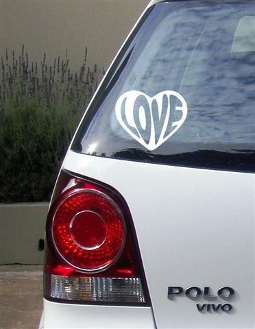 Love heart Vinyl Vehicle Stickers