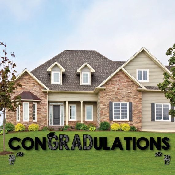 e604d1af4e44 Con-GRAD-ulations - Graduation Yard Sign - Outdoor Lawn Graduation  Decorations - Graduation Sign - Graduation Cheers Lawn Sign