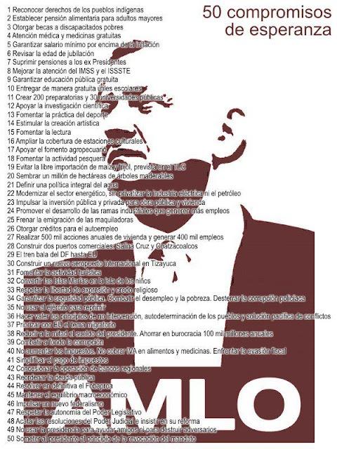 50 Compromisos de AMLO