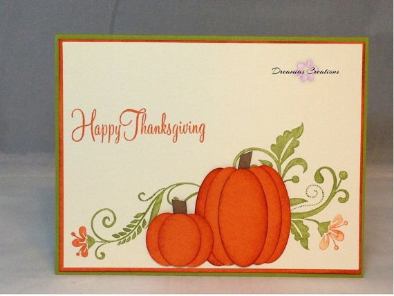 Thanksgiving card made with high quality Stampin' Up products.