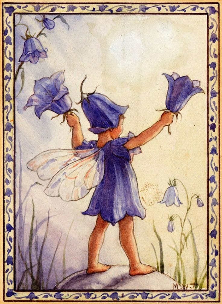 Bluebell fairy ~ by Margaret Tarrant :)