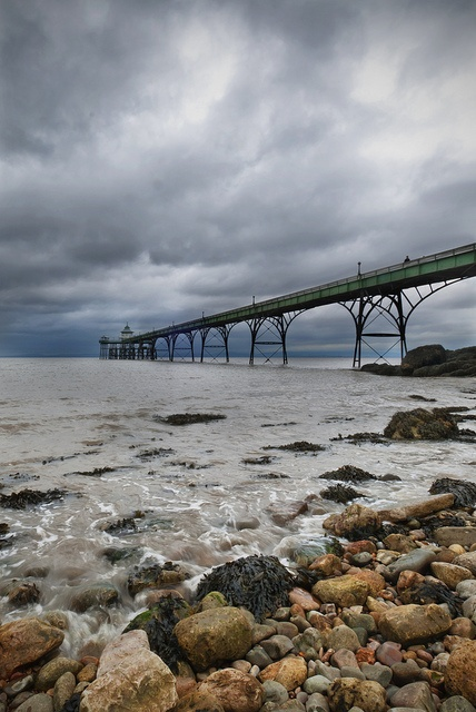 Storm Ascending over Clevedon Pier, Clevedon, England