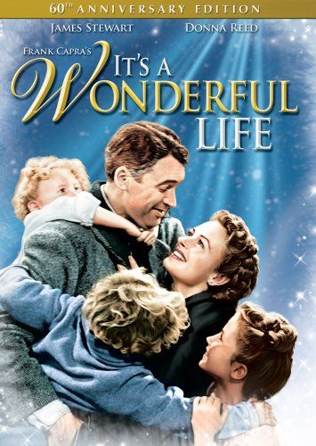 {It's a Wonderful Life} I was worried the topic of suicide was too deep for my kids (7/8). Do you watch it with your kids? How old are they? *Image links to great list of family-friendly movie titles