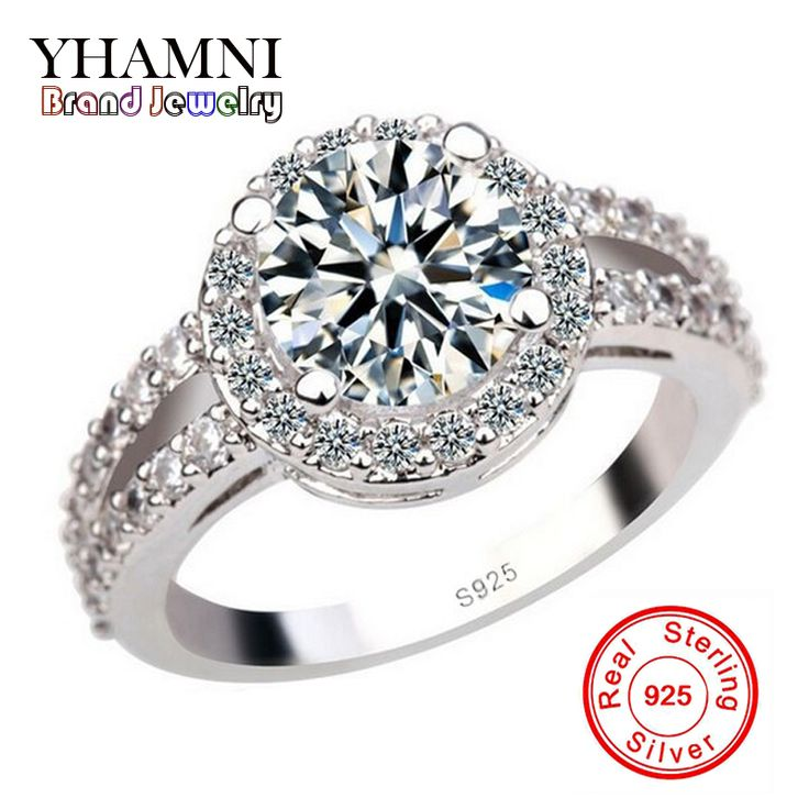 Promotion Luxury 925 Silver Engagement Ring With S925 Stamp 3 Carat CZ Diamond Wedding Rings For Women Size 4 5 6 7 8 9 10 YH091