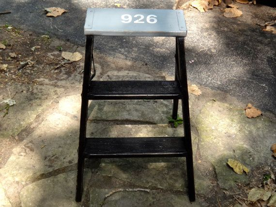 Ladder 926 Small Step Ladder Industrial by MaxsUniquities on Etsy