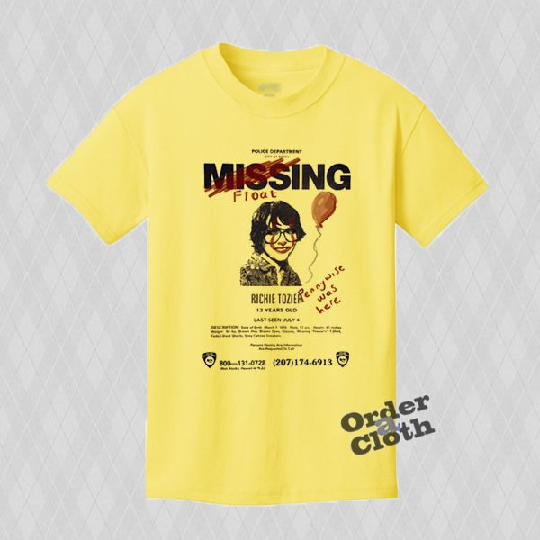 "IT 2017 Movie Missing ""Richie Tozier"" T-Shirt"