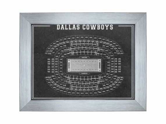 Vintage Print of OLD Texas Stadium Football Dallas Cowboys Blueprint on Photo Paper Matte or Canvas Sports Line Ink Art Decor Antique