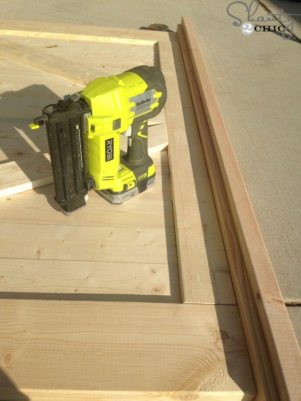 DIY Barn Door Headboard | Diy barn door, Woodworking desk ...